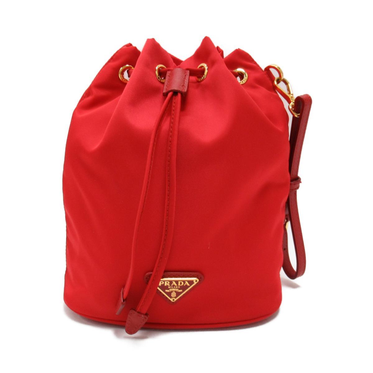 20a5771222bb BRANDOFF  Prada drawstring purse type porch bag lady nylon red ...
