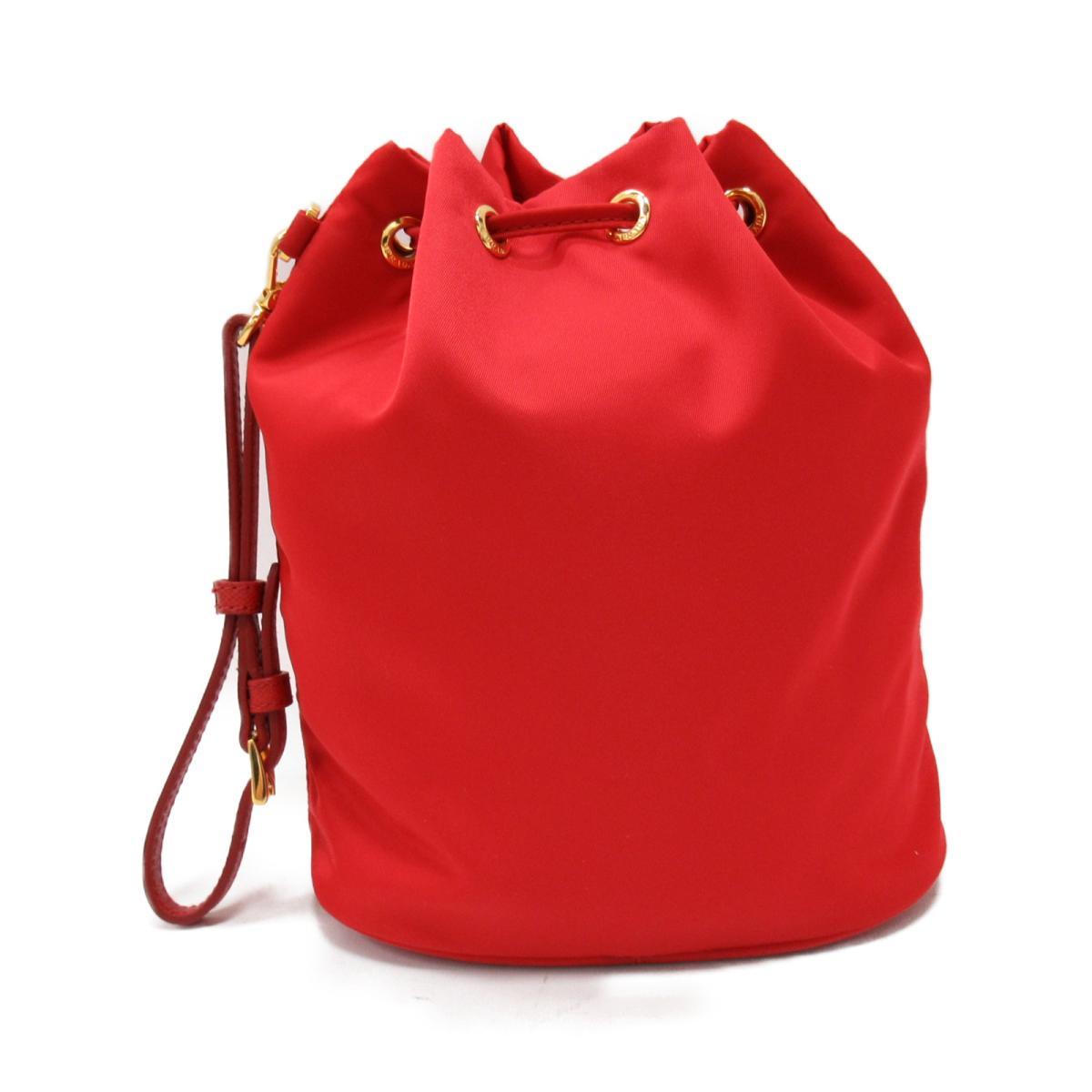 117f573487a BRANDOFF  Prada drawstring purse type porch bag lady nylon red ...