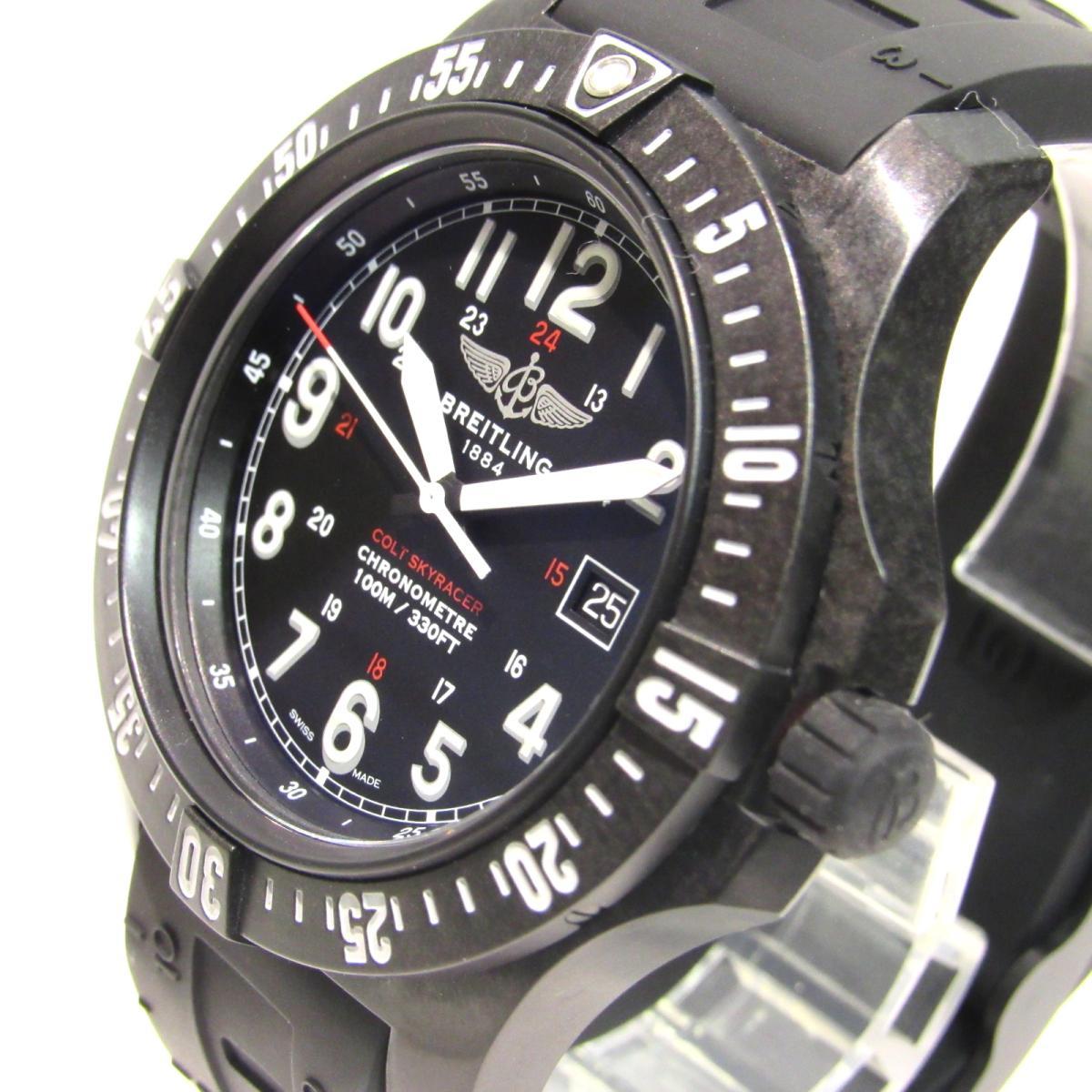 Auth Breitling Colt Sky Racer Watch X74320e4 Bf87 Quartz Bright Light Used Brandoff Ginza Tokyo Japan