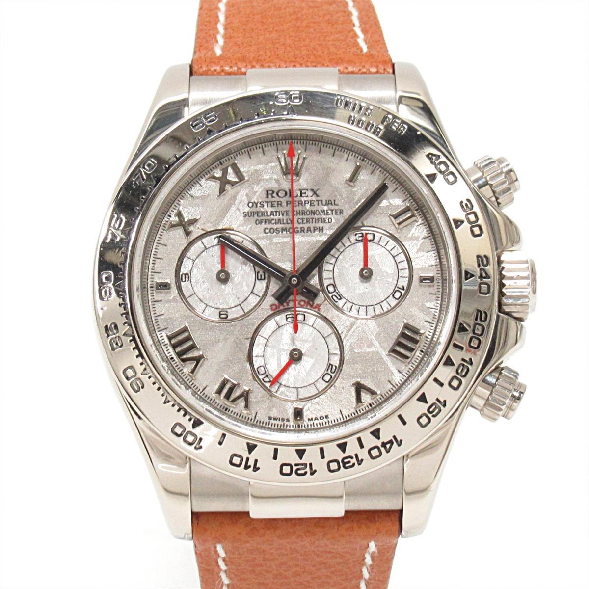 Brandoff Rolex Daytona Watch Watch Clock Men K18wg 750 White Gold