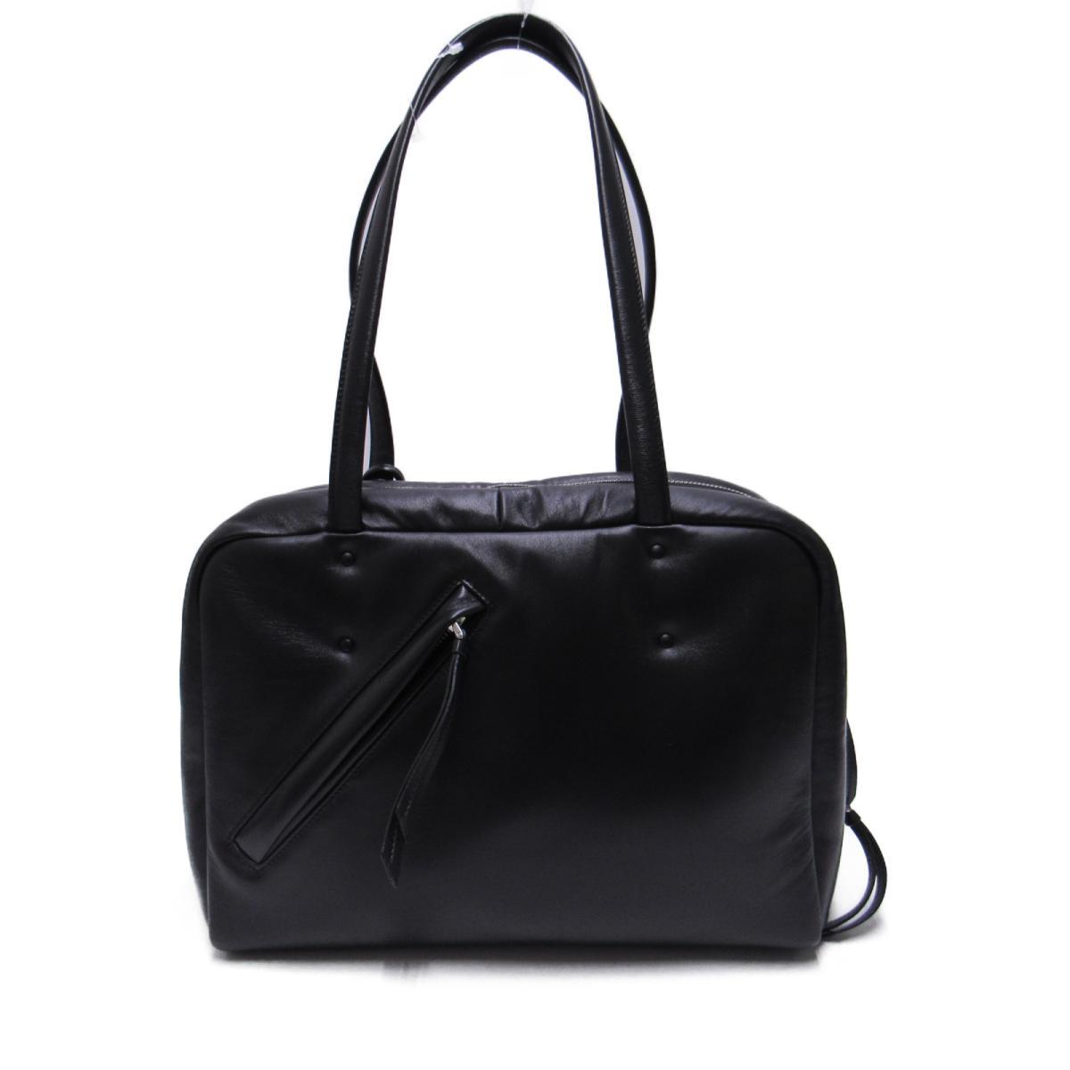 b3af7f70a27f45 ... Auth PRADA Padded Nappa Shoulder tote bag 1BB052 Padd Nappa leather  Black | BRANDOFF Ginza/ ...