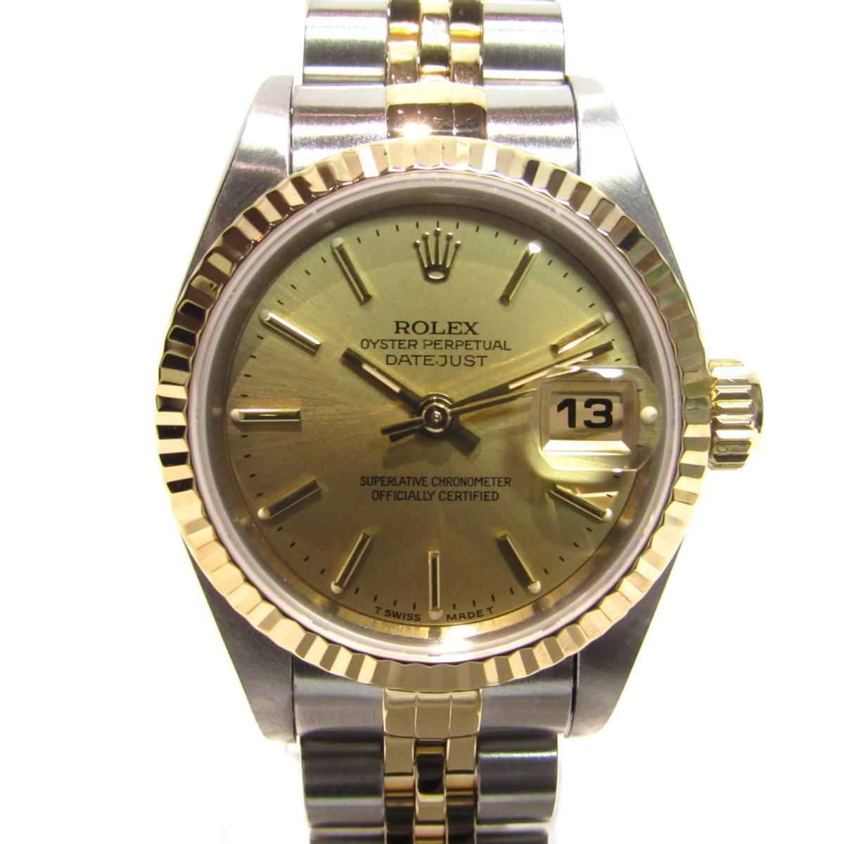【お買得】 【】 xK18YG ロレックス デイトジャスト 腕時計 ウォッチ 時計 デイトジャスト レディース ステンレススチール ウォッチ (SS) xK18YG ゴールドxシルバー 69173) | ROLEX BRANDOFF ブランドオフ ブランド ブランド時計 ブランド腕時計, qoob[キューブ]大きいサイズの店:5cf7ef86 --- baecker-innung-westfalen-sued.de