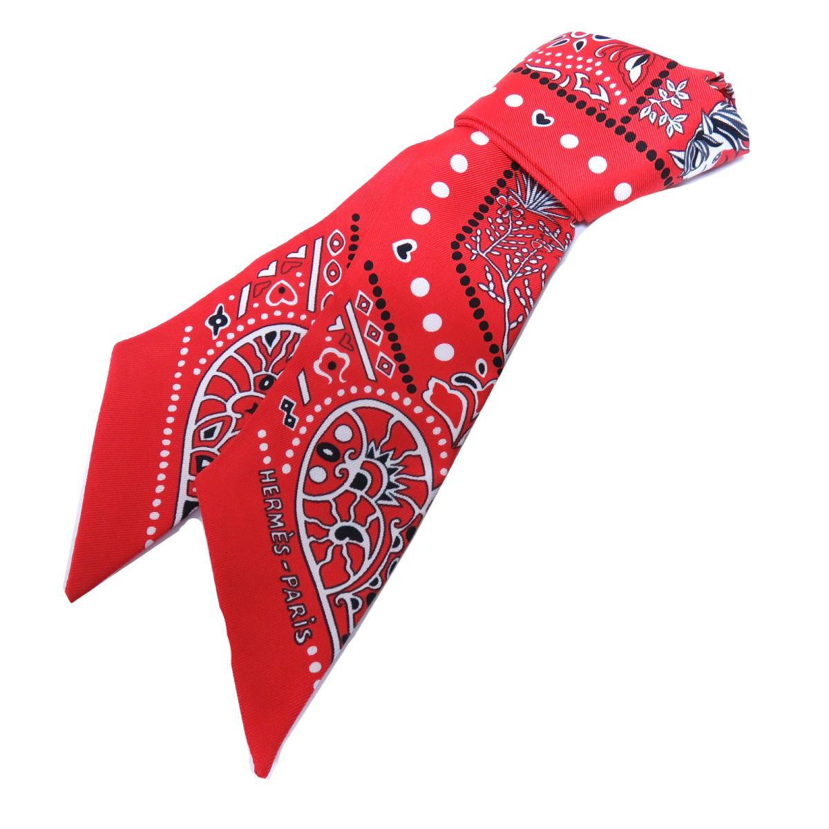 エルメス トゥイリー スカーフ 衣料品 レディース シルク ROUGE/BLANC/NOIR | HERMES BRANDOFF ブランドオフ ブランド