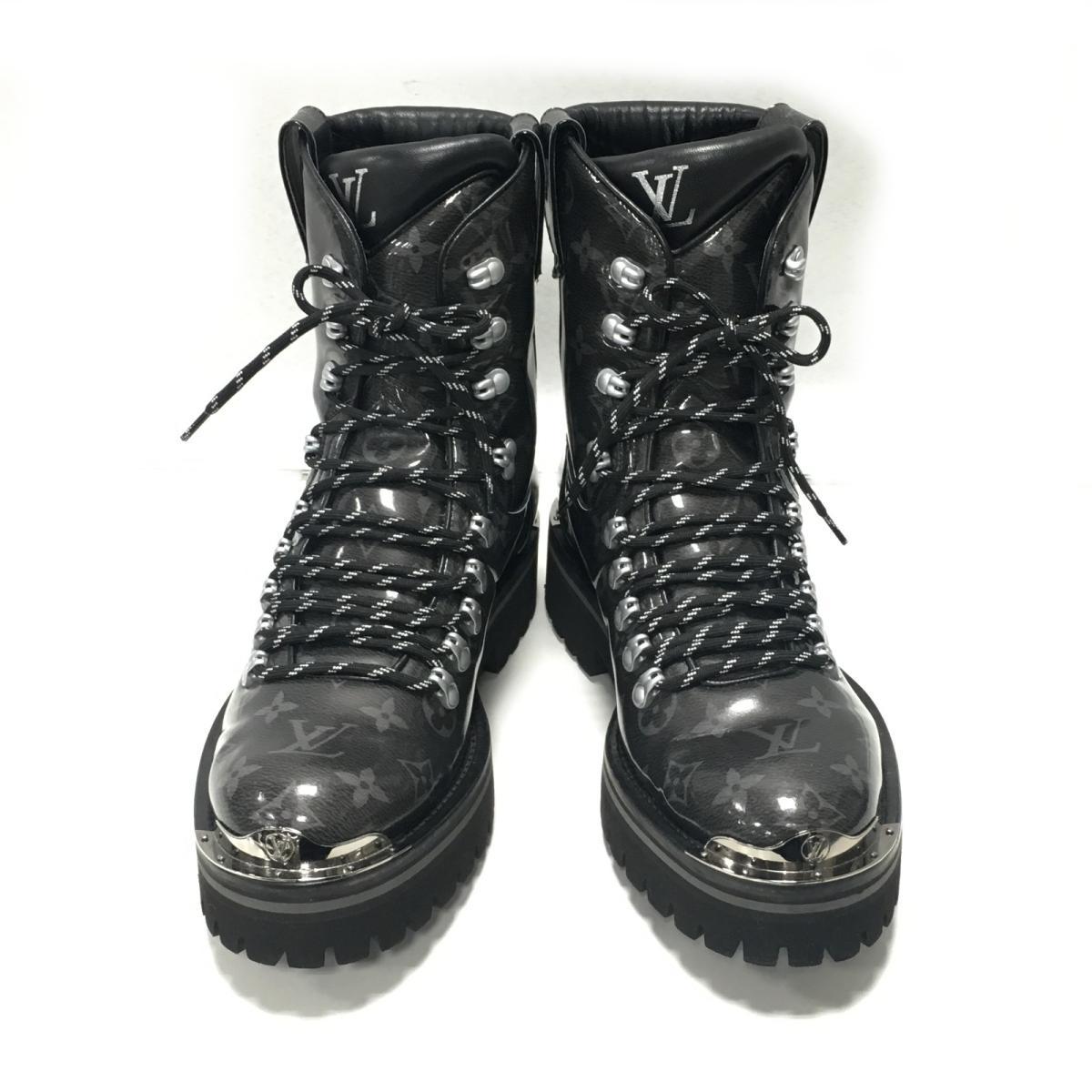 1c9219c369cd Auth LOUIS VUITTON Outland Line Ankle Boots Shoes 1A4K2J Monogram Glaze  Used