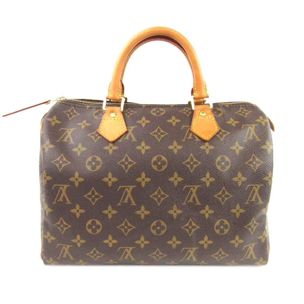 05bbf2807113 (Free shipping) Auth LOUIS VUITTON Speedy 30 Hand bag M41526 Monogram Used