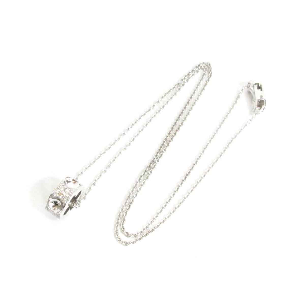 62eb86fcad85 Auth LOUIS VUITTON Pandantif Empreinte Necklace pendant K18WG white gold  diamond