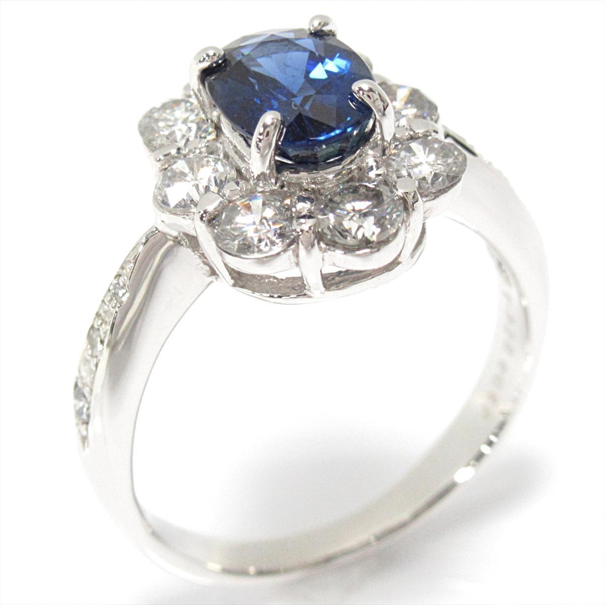 【中古】ジュエリー サファイアリング 指輪 ノーブランドジュエリー レディース PT900 プラチナxサファイア (1.325ct) xダイヤモンド (0.89ct)   JEWELRY BRANDOFF ブランドオフ アクセサリー リング