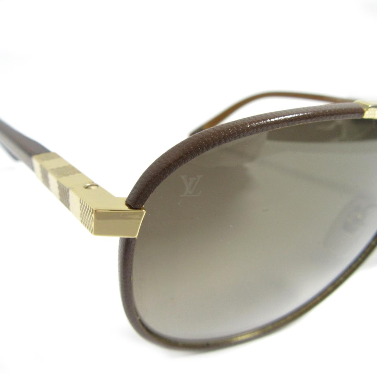 c4c68459b3bf8 Auth LOUIS VUITTON Lunettes de soleil Attraction Pilot Sunglasses Z0706U  Plastic