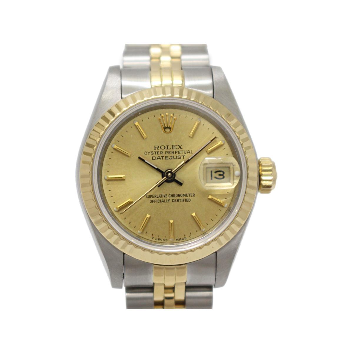 Brandoff Auth Rolex Datejust Ladies Watch Quartz K18yg Yellow Gold