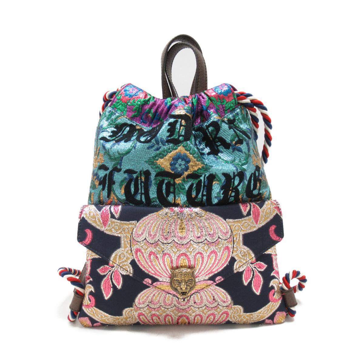cce30620ca1188 Gucci backpack rucksack bag men gap Dis jacquard fabric x coating canvas  multicolored (470443) ...