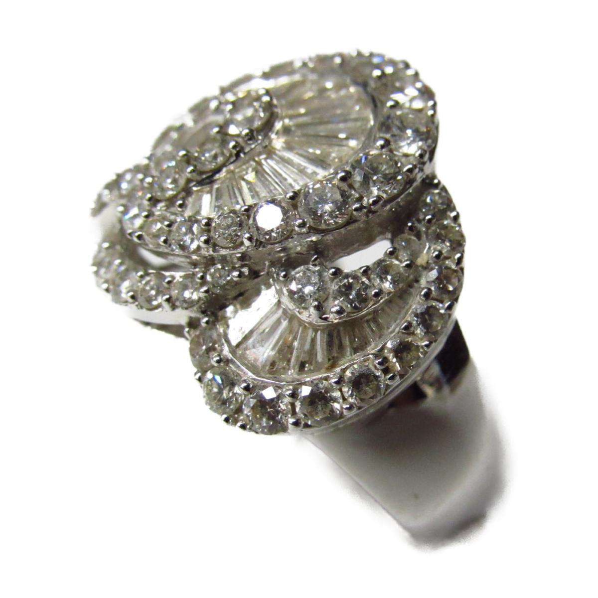 【中古】ジュエリー リング 指輪 ノーブランドジュエリー レディース K18WG (750) ホワイトゴールド × ダイヤモンド シルバー | JEWELRY BRANDOFF ブランドオフ アクセサリー