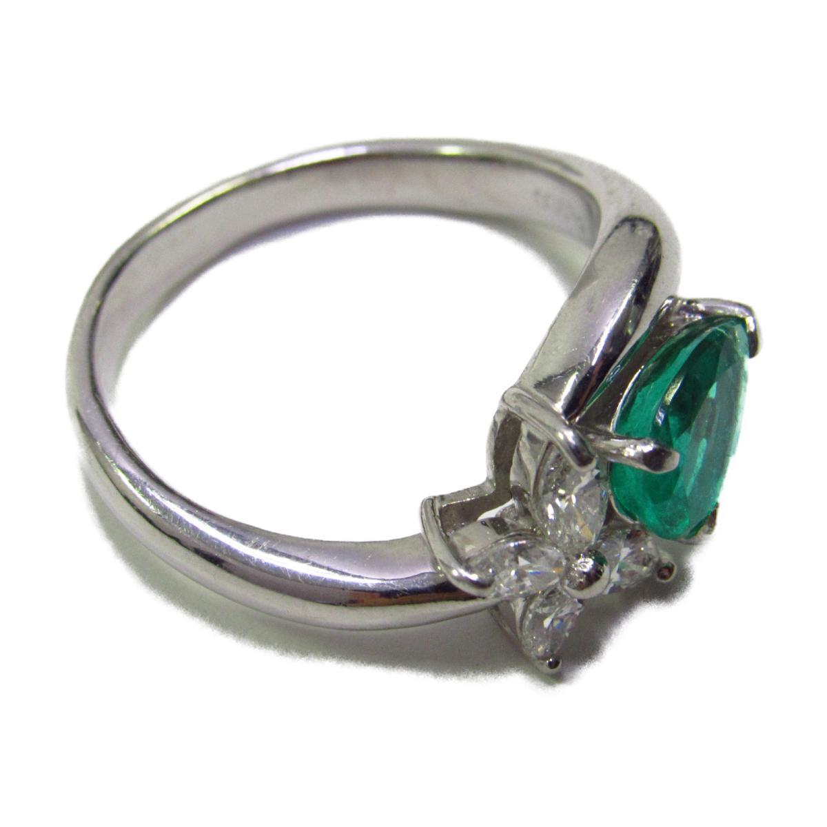 ジュエリー エメラルド リング 指輪 レディース PT900 プラチナxエメラルド1 13ctxダイヤモンド0 46ctシルバーxグリーンJEWELRY BRANDOFF ブランドオフ アクセサリーQsthdr