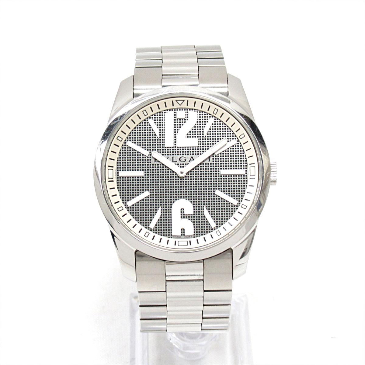 buy popular a631b 1711f Bulgari solo tempo watch watch clock men stainless steel (SS) (ST42S)