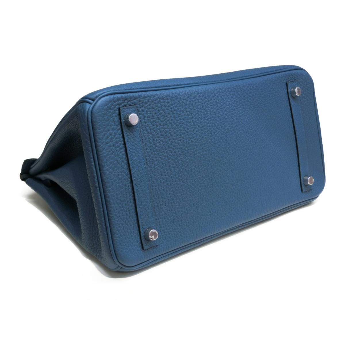 a2fd3f3bed93 BRANDOFF  Auth HERMES Birkin 30 Hand tote bag Togo leather Cobalt ...