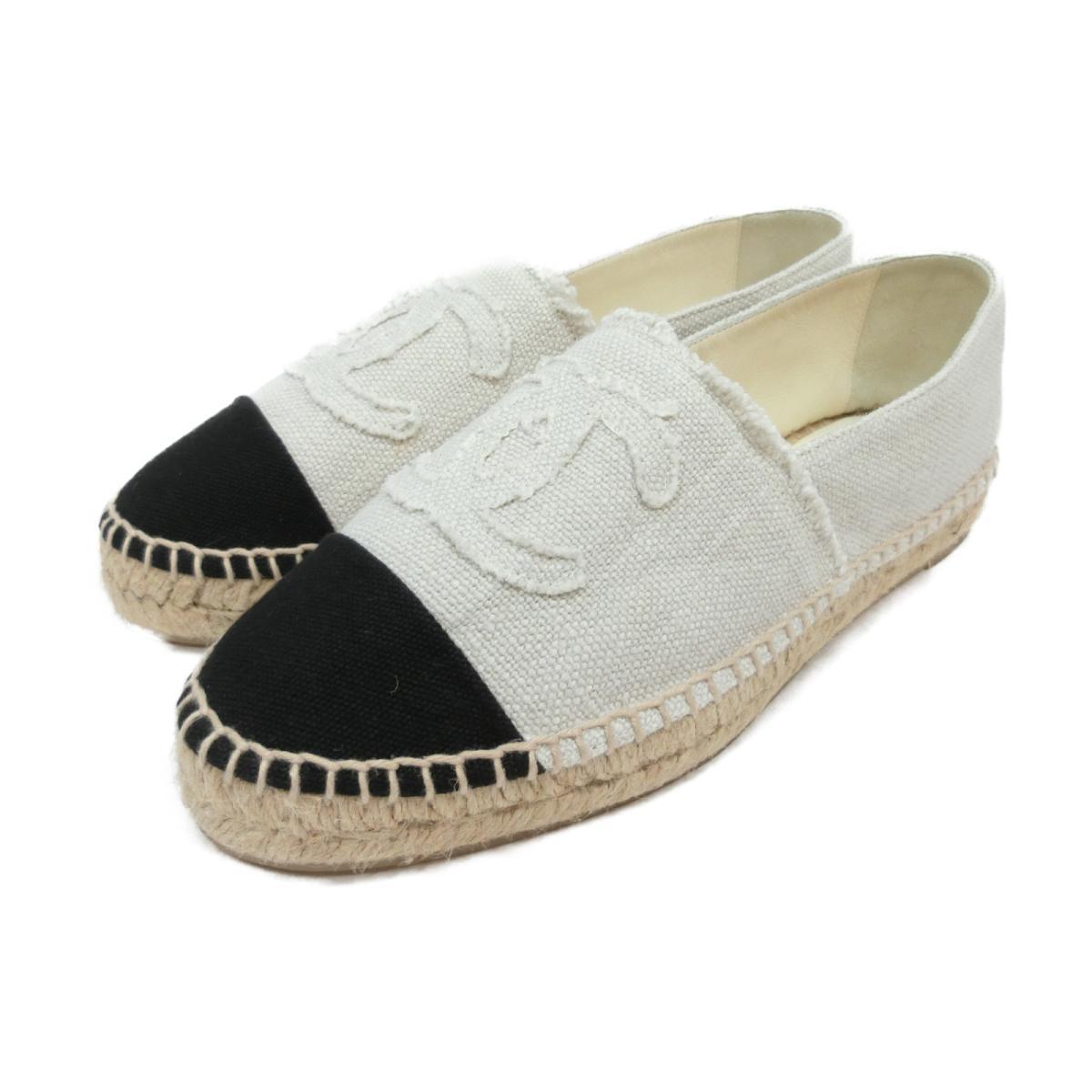 best sneakers d3799 548af Authentic CHANEL Espadrilles Shoes Linen Beige