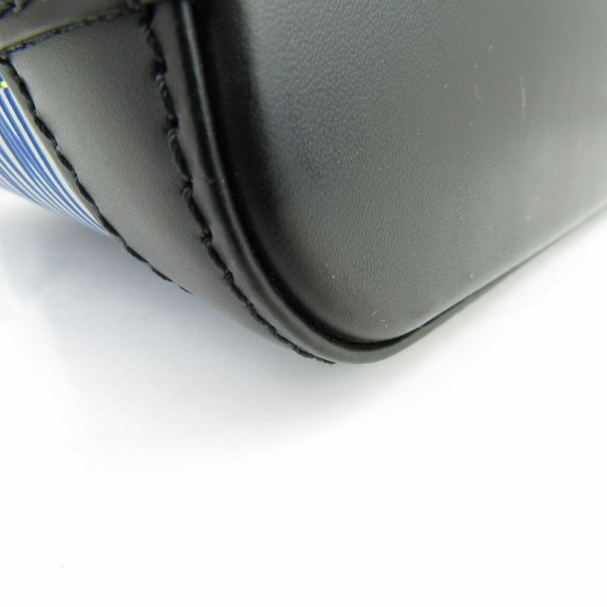 ea553aa27b56 (Free shipping) Auth LOUIS VUITTON Nano Alma Hand shoulder bag M41578 Epi  denim Blue Used