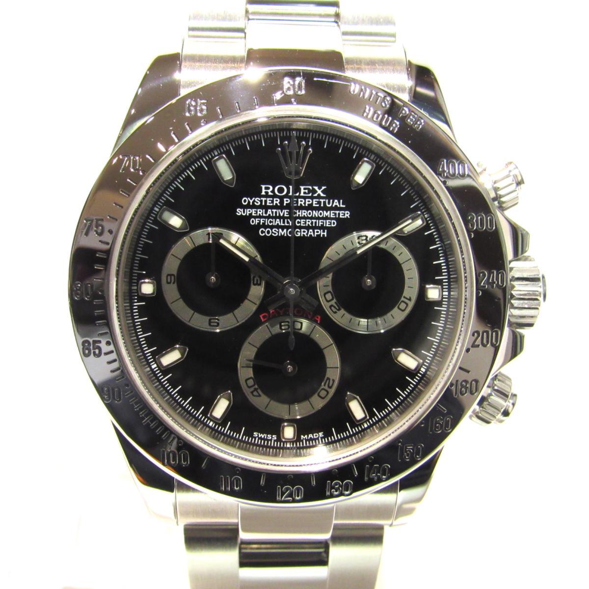 buy popular d86a6 e8d93 【中古】ロレックス デイトナ 腕時計 ウォッチ 時計 メンズ ステンレススチール(SS) シルバーxブラック (116520)|BRANDOFF  TOKYO