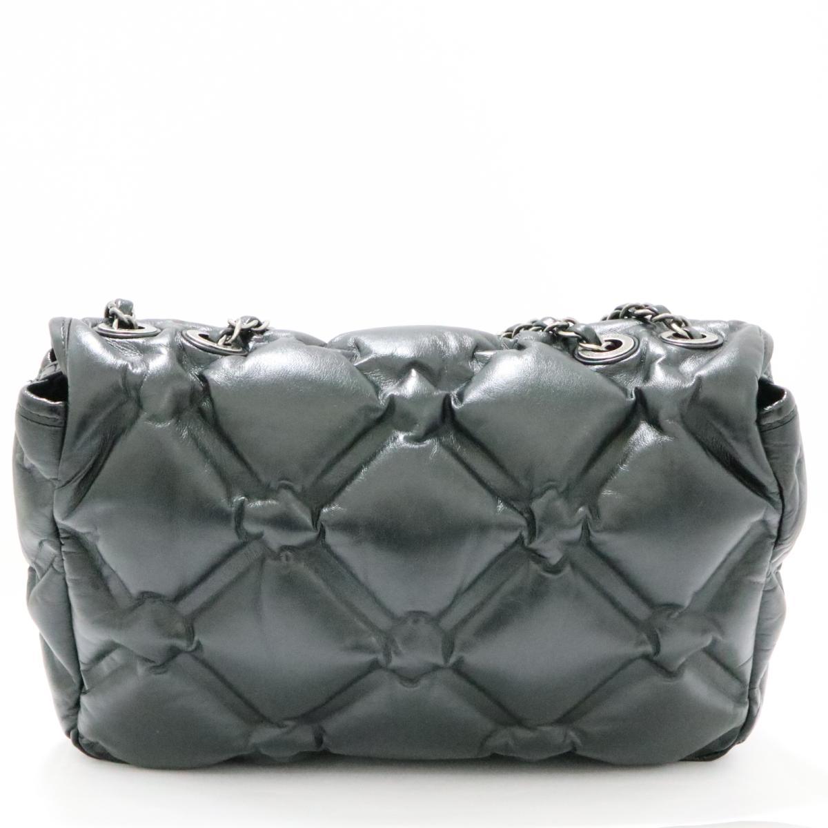 bfa54984781854 ... Auth CHANEL Bubble Quilt Flap Shoulder Bag A93602 leather Black Used  Vintage | BRANDOFF Ginza/ ...