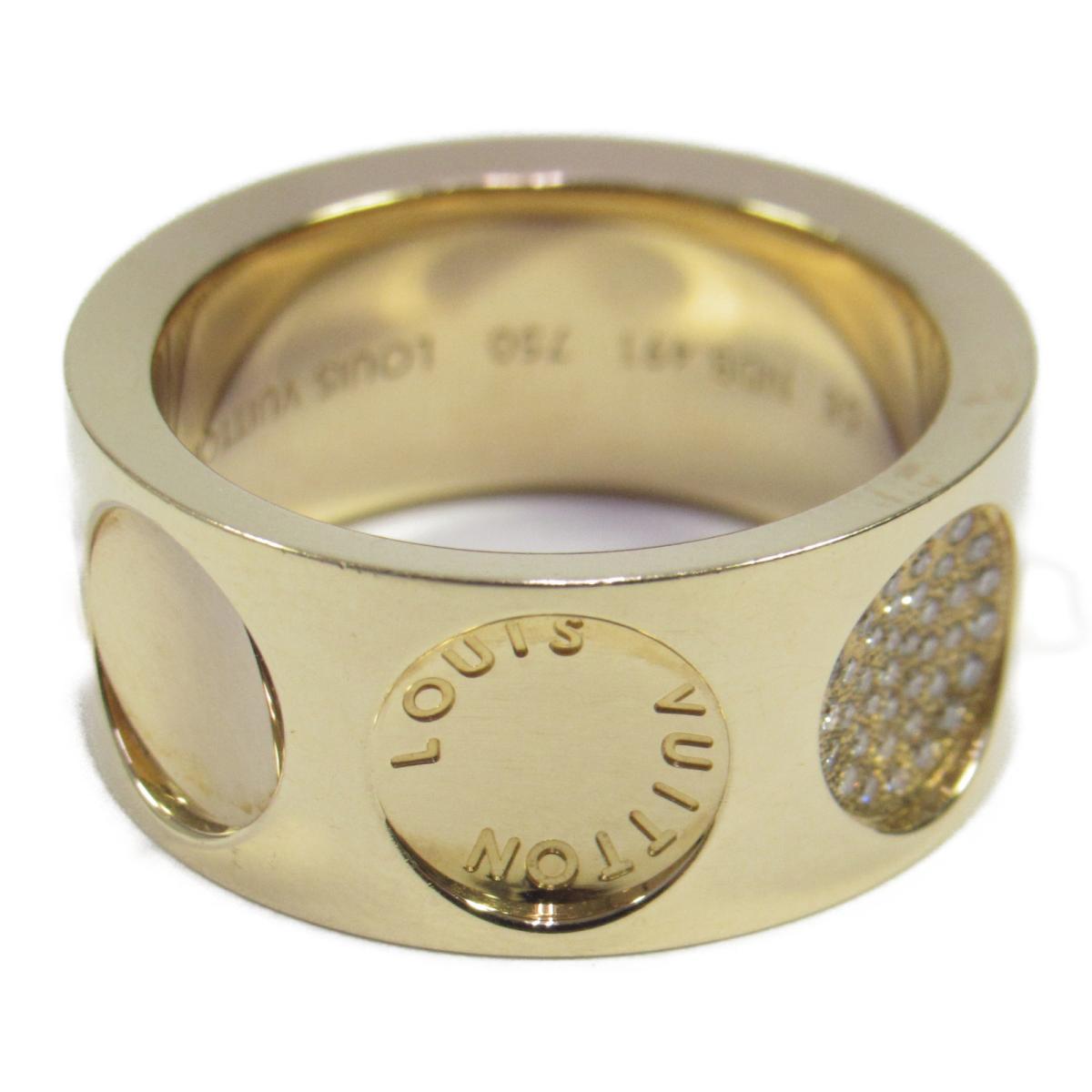 73a41a4034d5 Auth LOUIS VUITTON Petit Bague Empreinte Ring  58 18KYG Yellow Gold Diamond  Used