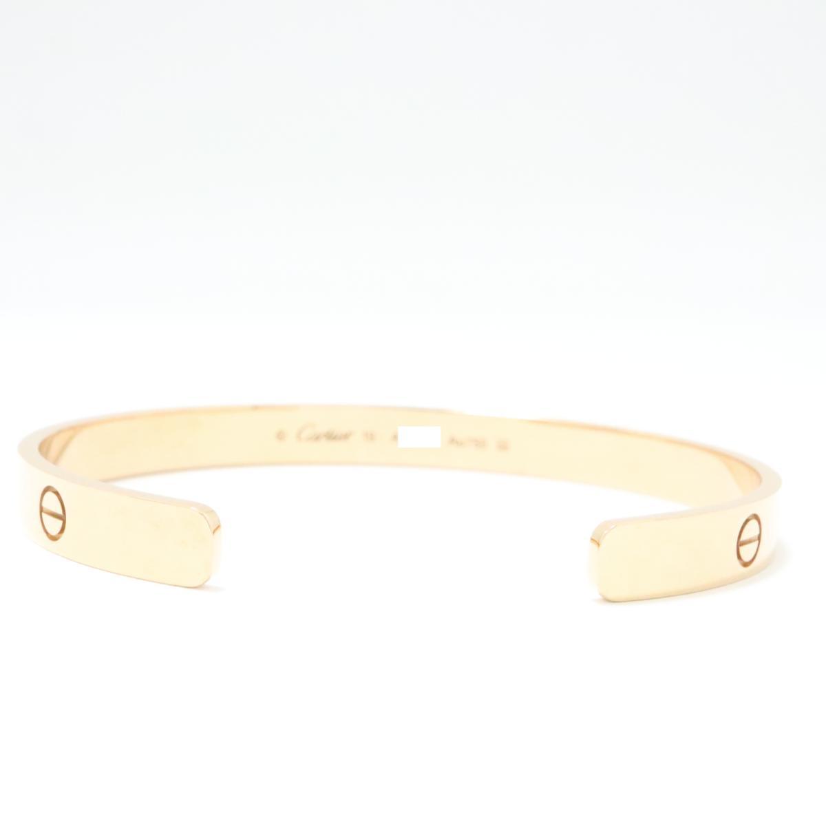 6e26ac558c6db ... Auth Cartier Love Bracelet Open Bangle #19 18KPG 750 Pink Rose Gold  Used Vintage ...