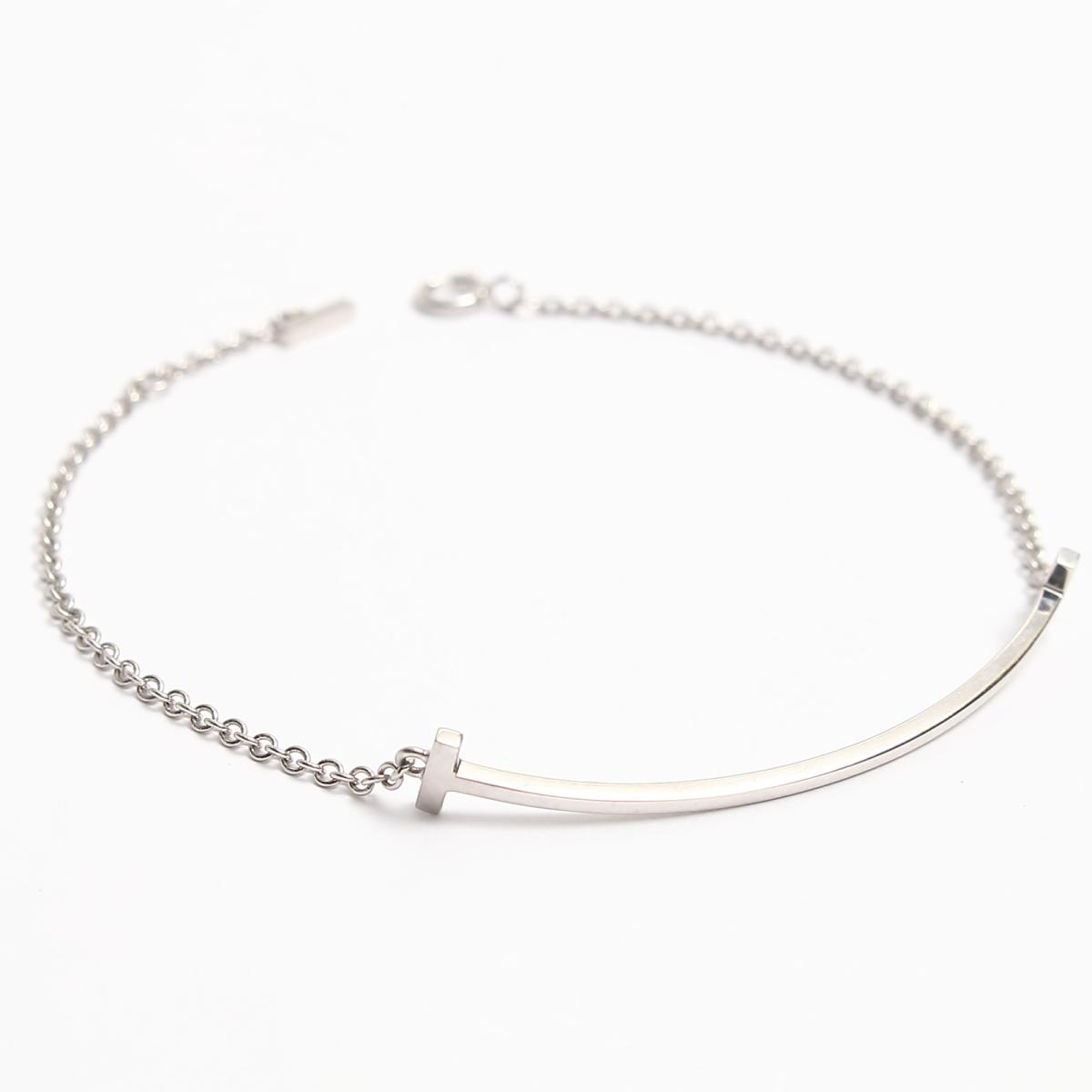 fc24ae54e ... Auth TIFFANY&CO T:smile bracelet 18K(750) White gold | BRANDOFF Ginza/  ...