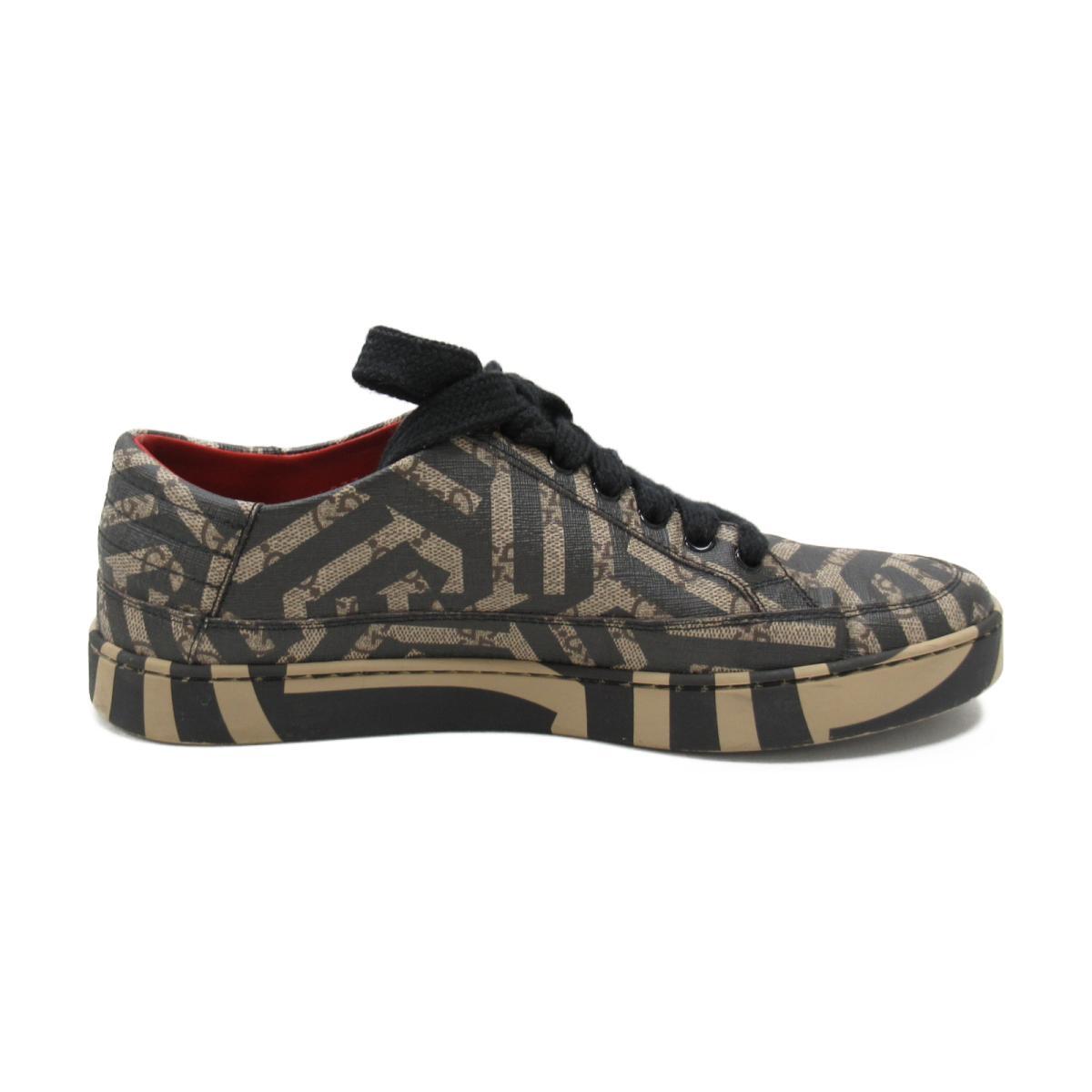 0c168e48ca7 BRANDOFF  Gucci sneakers clothing men PVC black x beige system ...