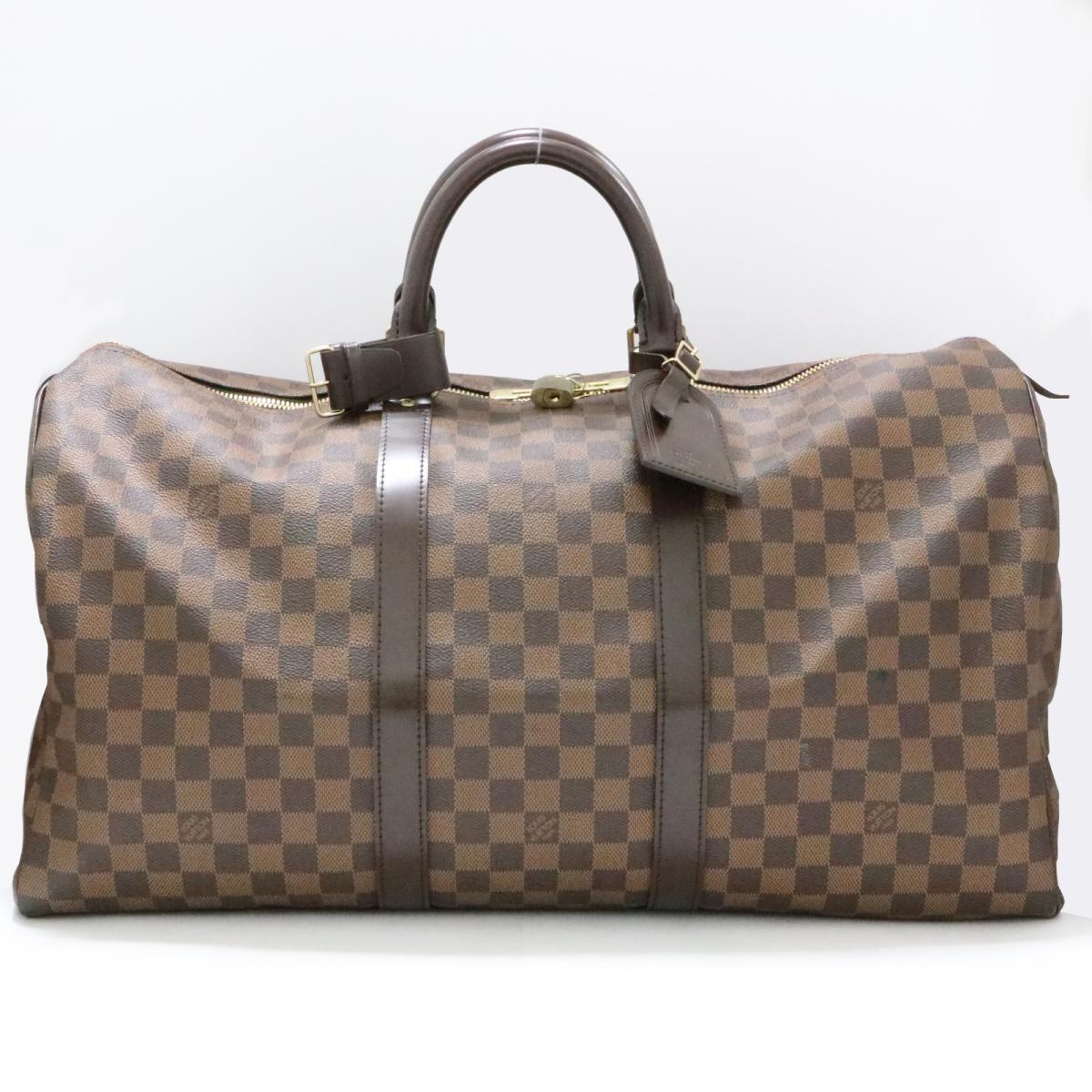 【中古】ルイヴィトン キーポル50 ボストンバッグ バッグ ユニセックス ダミエ ダミエ (N41427)