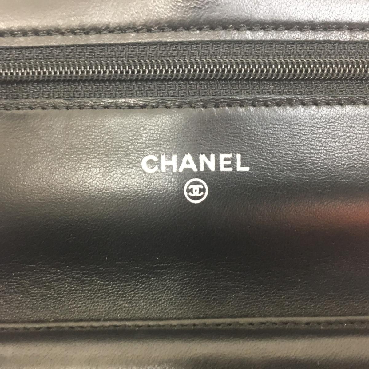 b7f6dbef65 ... Auth CHANEL Chain wallet shoulder crossbody bag Purse Lamb leather  Black Used Vintage   BRANDOFF Ginza ...