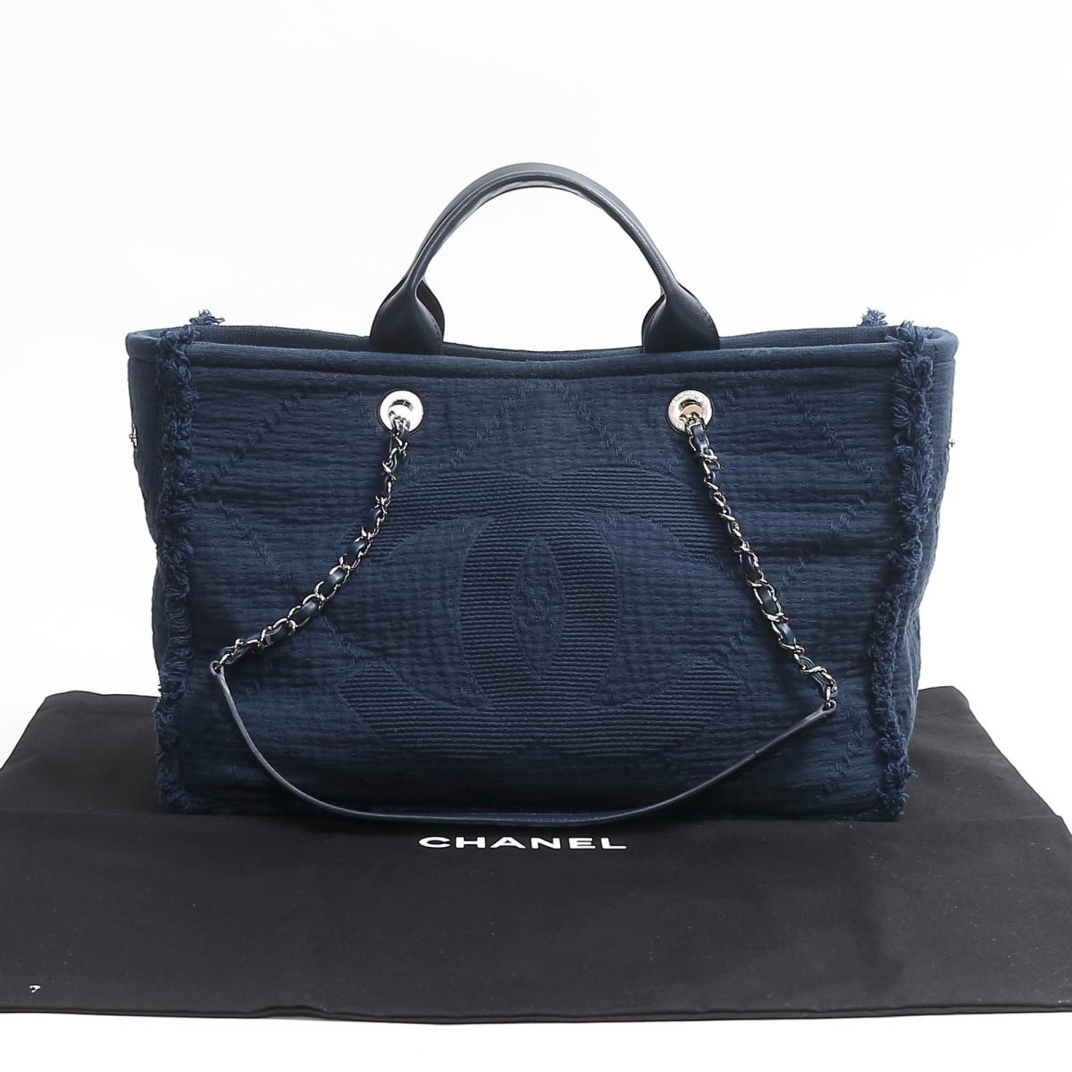 0ab5f4ad361c Auth CHANEL Large shopping bag 2WAY tote bag A57167 Canvas x Leather Blue |  BRANDOFF Ginza/TOKYO/Japan