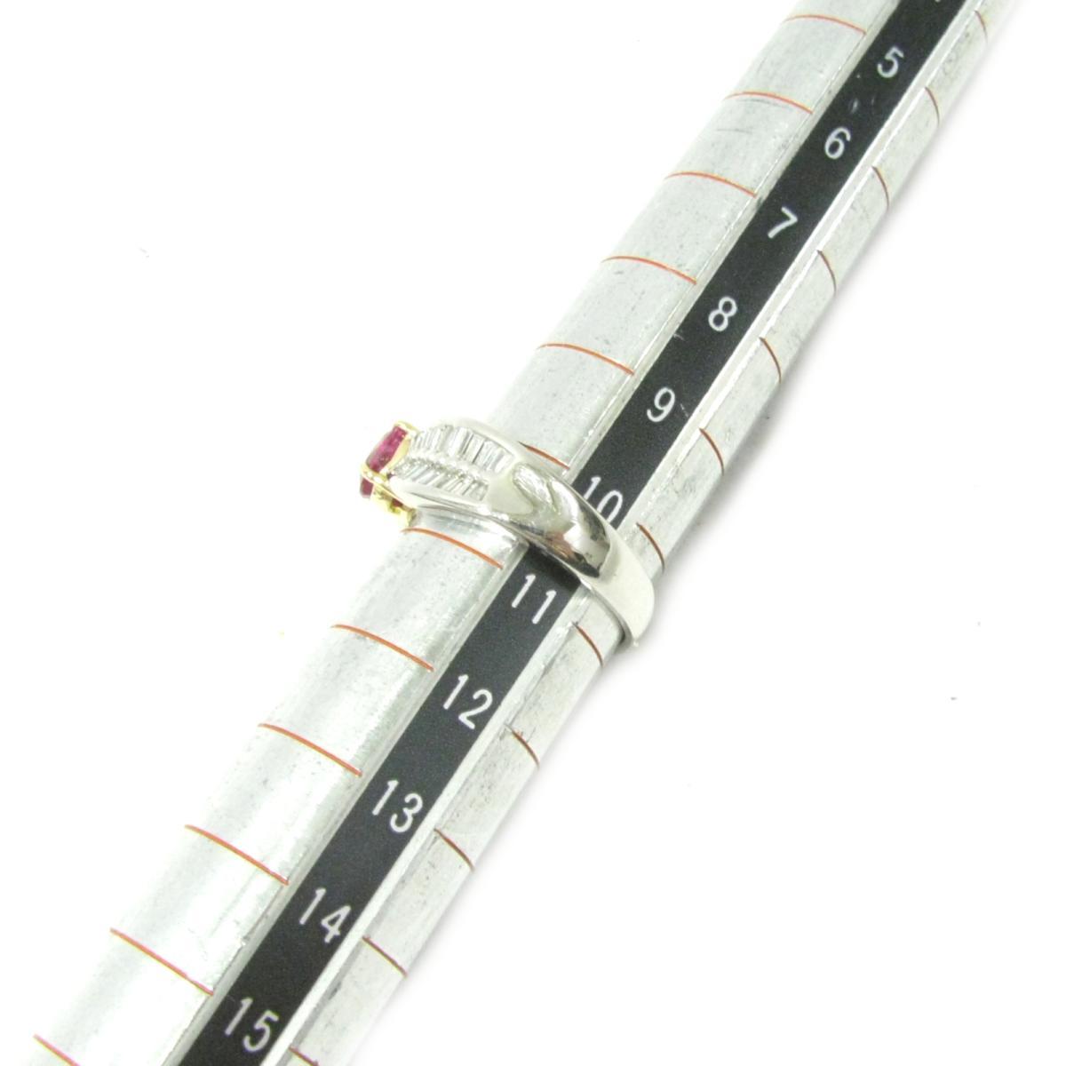 ジュエリー ルビーリング 指輪 ノーブランドジュエリー レディース PT900 プラチナXルビー1 06ctXダイヤモンド0 54ct シルバーXレッドJEWELRY BRANDOFF ブランドオフ アクセサリー リングq5jL43RA