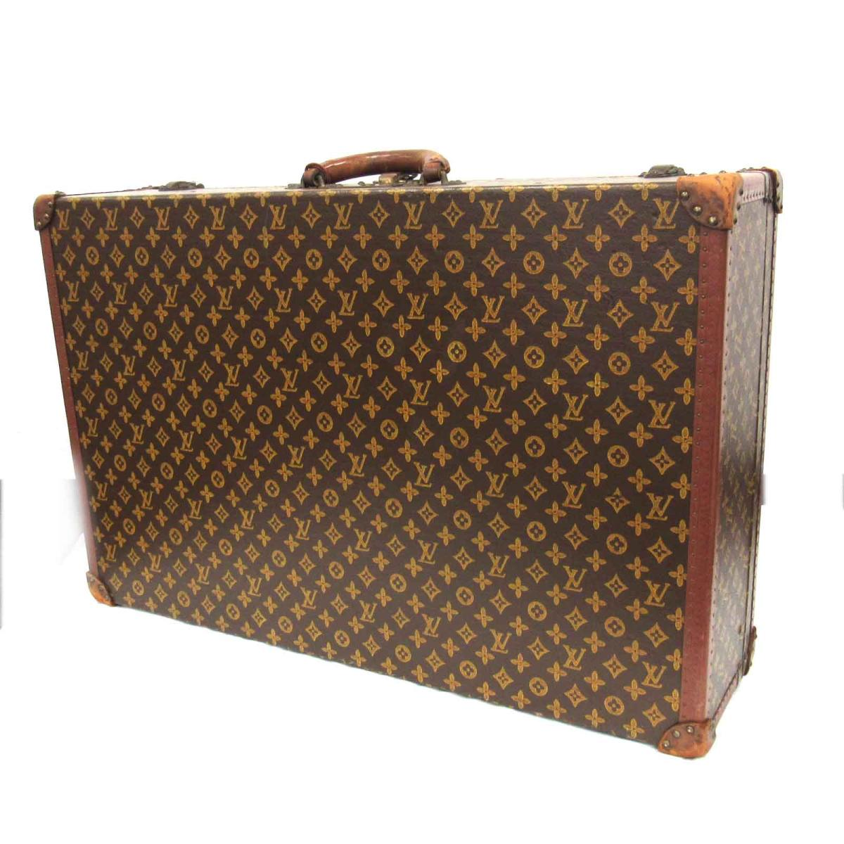 885018a4d5f9 Auth LOUIS VUITTON Hard Case Trunk Monogram canvas Used Vintage Rare item