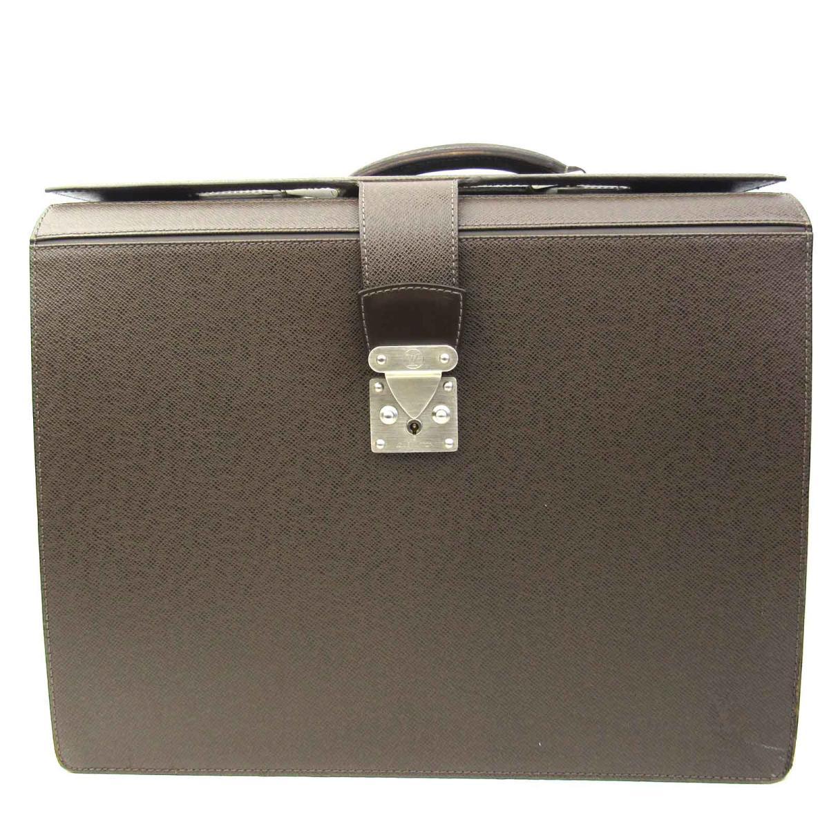 【中古】ルイヴィトン ピロットケース・ウラル ビジネスバッグ バッグ メンズ タイガ グリズリ (M30028)