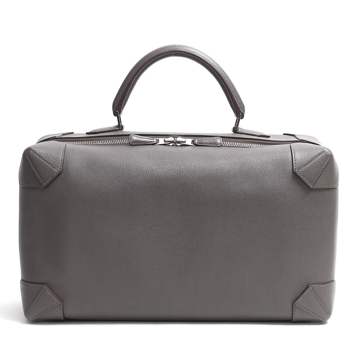f924ca363ba4 Hermes maxi box 37 ハンドバッグバッグレディースヴォーエバーカラーエタン (metal fittings  silver)