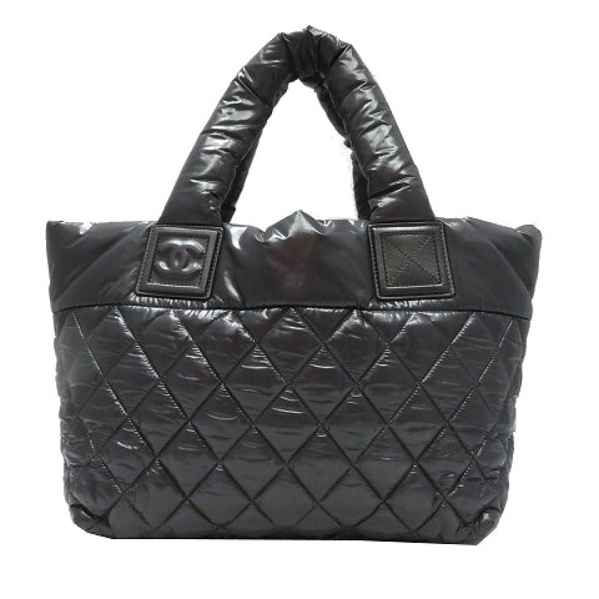 34c5ef2656bc Chanel here cocoon tote bag bag lady vinyl black (A48610) | CHANEL BRANDOFF  brand off-brand brand bag back tote bag tote bag Thoth