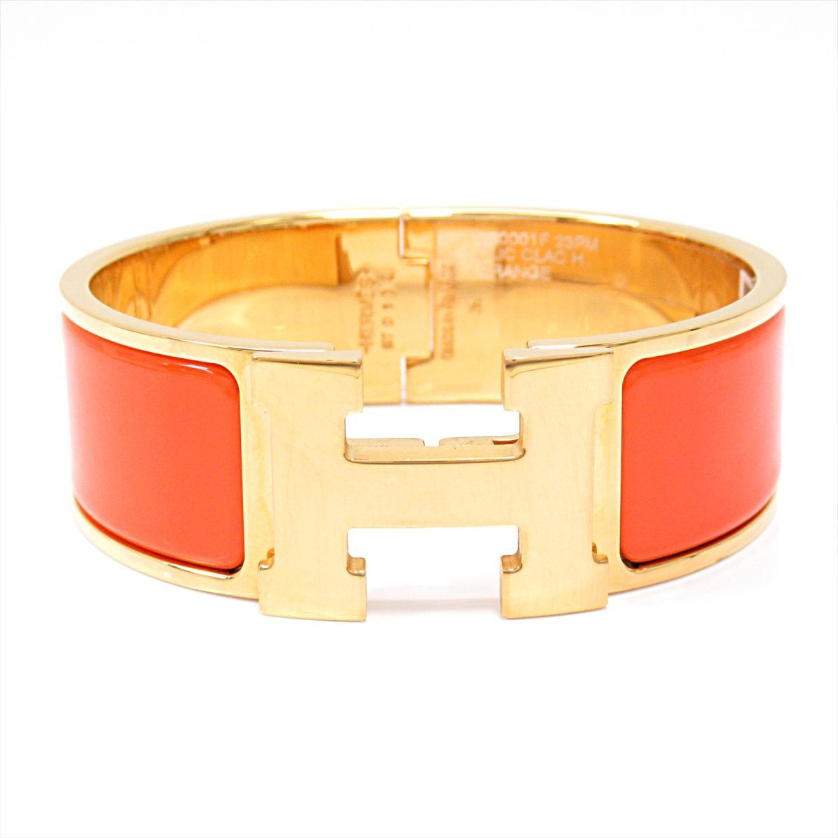 0af8472e8b5 Hermes click crack H GM bangle accessories men gap Dis GP orange x gold    HERMES ...