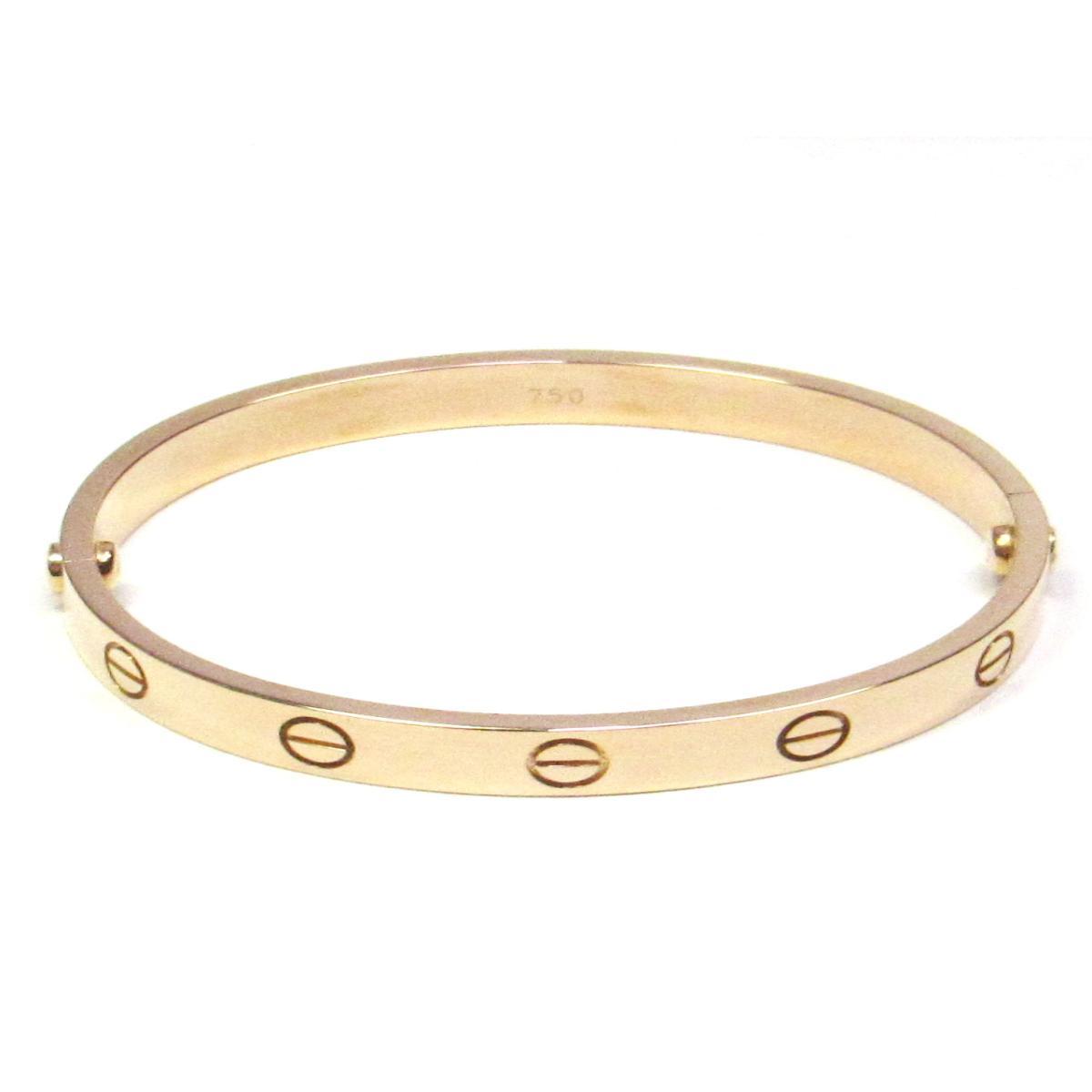 2071b3f88e499 Auth Cartier Love Bracelet Bangle #16 18KPG (750) Pink Rose Gold Used  Vintage | BRANDOFF Ginza/TOKYO/Japan