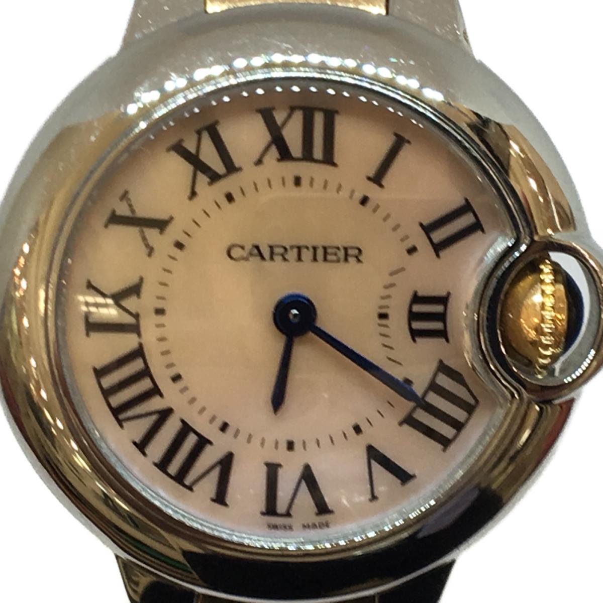 【在庫処分】 【】カルティエ バロンブルー レディース腕時計 ウォッチ 時計 レディース ステンレススチール (SS) × K18PG (750) ピンクゴールド (W6920034) | Cartier BRANDOFF ブランドオフ ブランド ブランド時計 ブランド腕時計 腕時計, 湯河原町 102433eb
