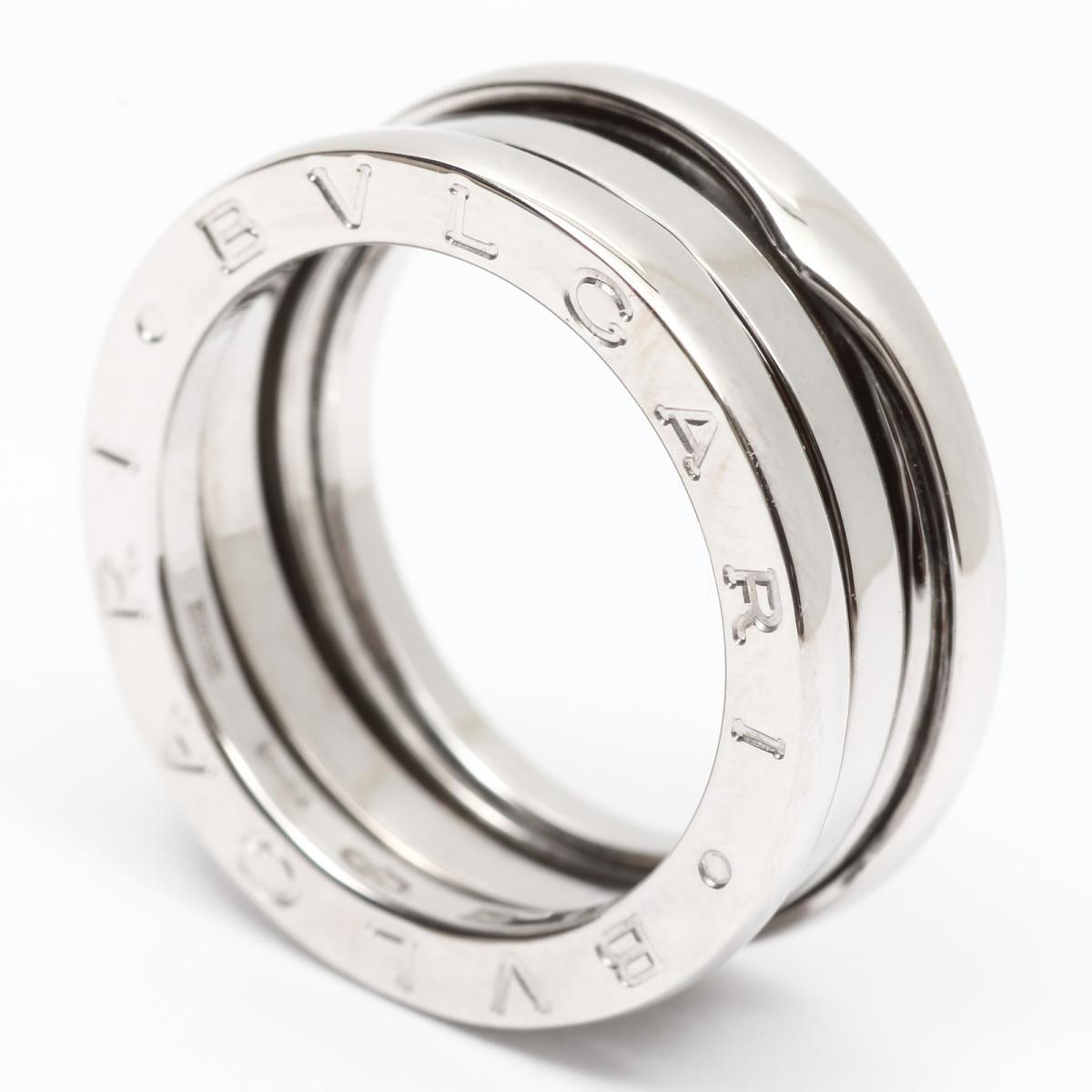 ブルガリ B zero1 リング Sサイズ ビーゼロワン 指輪 ブランドジュエリー レディース K18WG750ホワイトwZ8PXNn0Ok