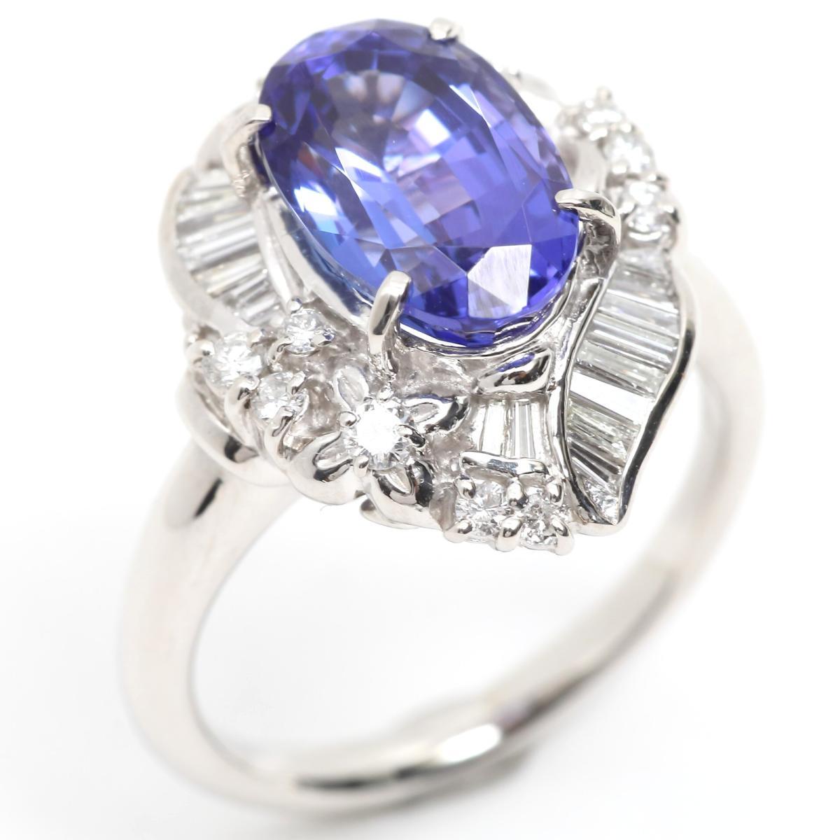 トップ ジュエリー タンザナイト ダイヤモンド リング指輪 ノーブランドジュエリー レディース PT900 プラチナ リング指輪 x リング タンザナイト (3.59ct) (0.43ct)【】 | JEWELRY BRANDOFF ブランドオフ アクセサリー 指輪 リング, 健康セレクション:78a4f87c --- newplan.com