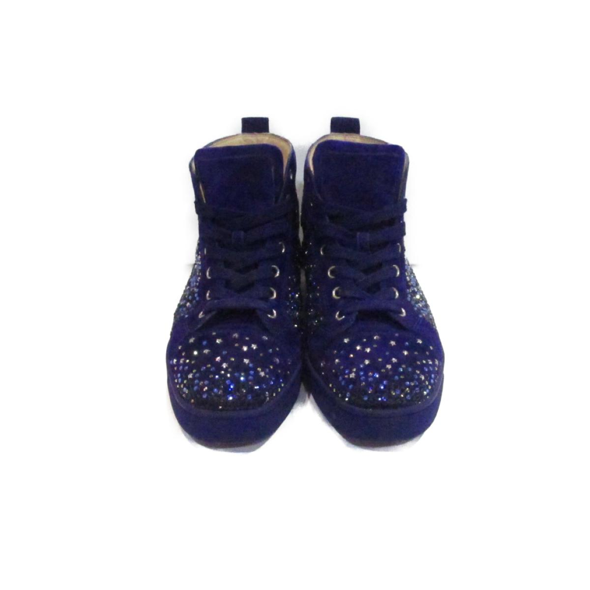 sports shoes 0f184 40fd1 Christian ルブタンハイカット sneakers men gap Dis suede x rubber x rhinestone purple  | Christian louboutin BRANDOFF brand off-brand shoes shoes shoes sneakers