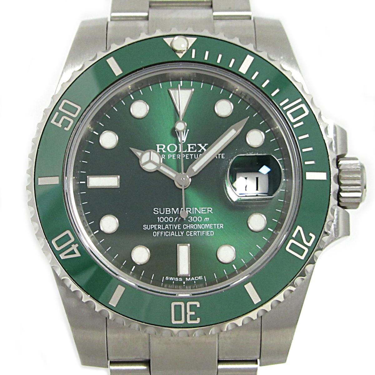 最も優遇 ロレックス サブマリーナ・デイト 腕時計 ウォッチ メンズ 時計 ステンレススチール (SS) × セラミック (116610LV) 【】   ROLEX BRANDOFF ブランドオフ ブランド ブランド時計 ブランド腕時計, おかしや d719353e