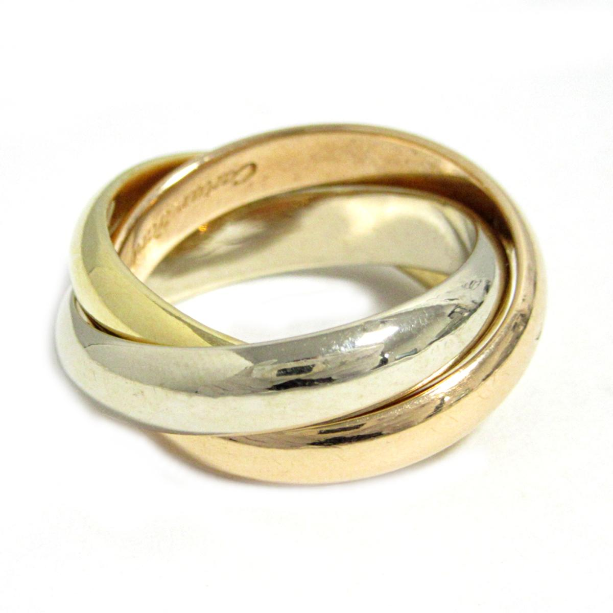 7e9e5b0f12e6b Auth Cartier Trinity Ring Band Ring 18K Tri Color Gold #49 Used Vintage    BRANDOFF Ginza/TOKYO/Japan