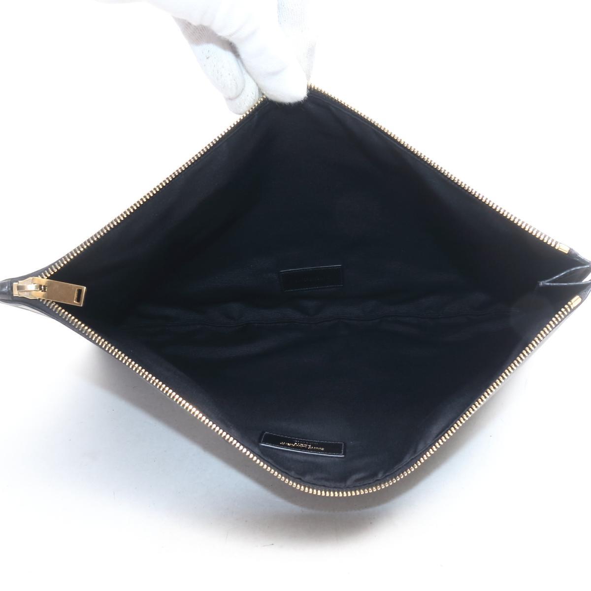 サン・ローラン クラッチバッグ バッグ メンズ レディース コーティングレザー ブラウン x ブラックSAINT LAURENT BRANDOFF ブランドオフ ブランド ブランドバッグ バック アクセサリーポーチ アクセサリー ポーチuTJc31lFK