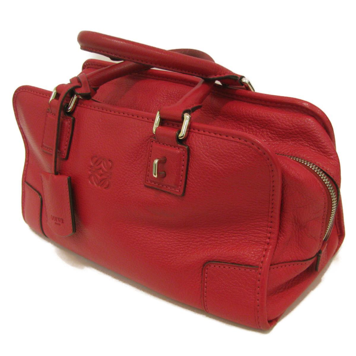 ロエベアマソナ 28 handbag bag lady goat leather (goat) red | LOEWE BRANDOFF brand  off-brand brand bag brand back bag backhand backhand