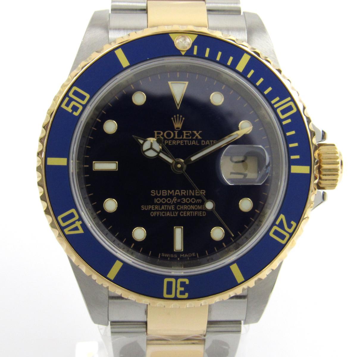 割引クーポン ロレックス サブマリーナ ウォッチ 腕時計 時計 メンズ K18YG (750) イエローゴールド x ステンレススチール (SS) (16613 ) 【】 | ROLEX BRANDOFF ブランドオフ ブランド ブランド時計 ブランド腕時計, インナーショップクレール 4a05378a