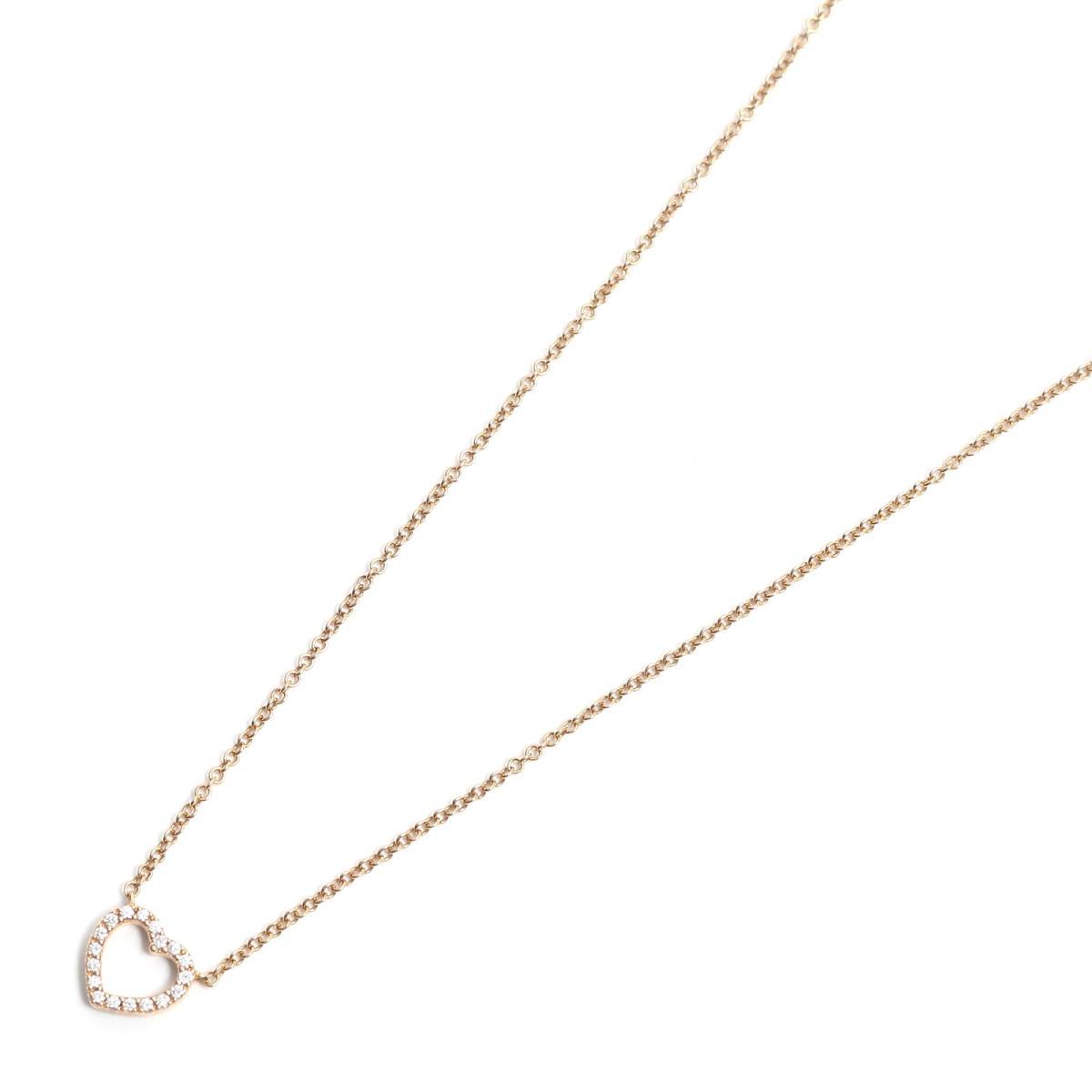 ティファニー メトロハートネックレス ブランドジュエリー レディース K18PG (750) ピンクゴールド x ダイヤモンド 【中古】 | TIFFANY&CO BRANDOFF ブランドオフ ブランド アクセサリー ネックレス ペンダント