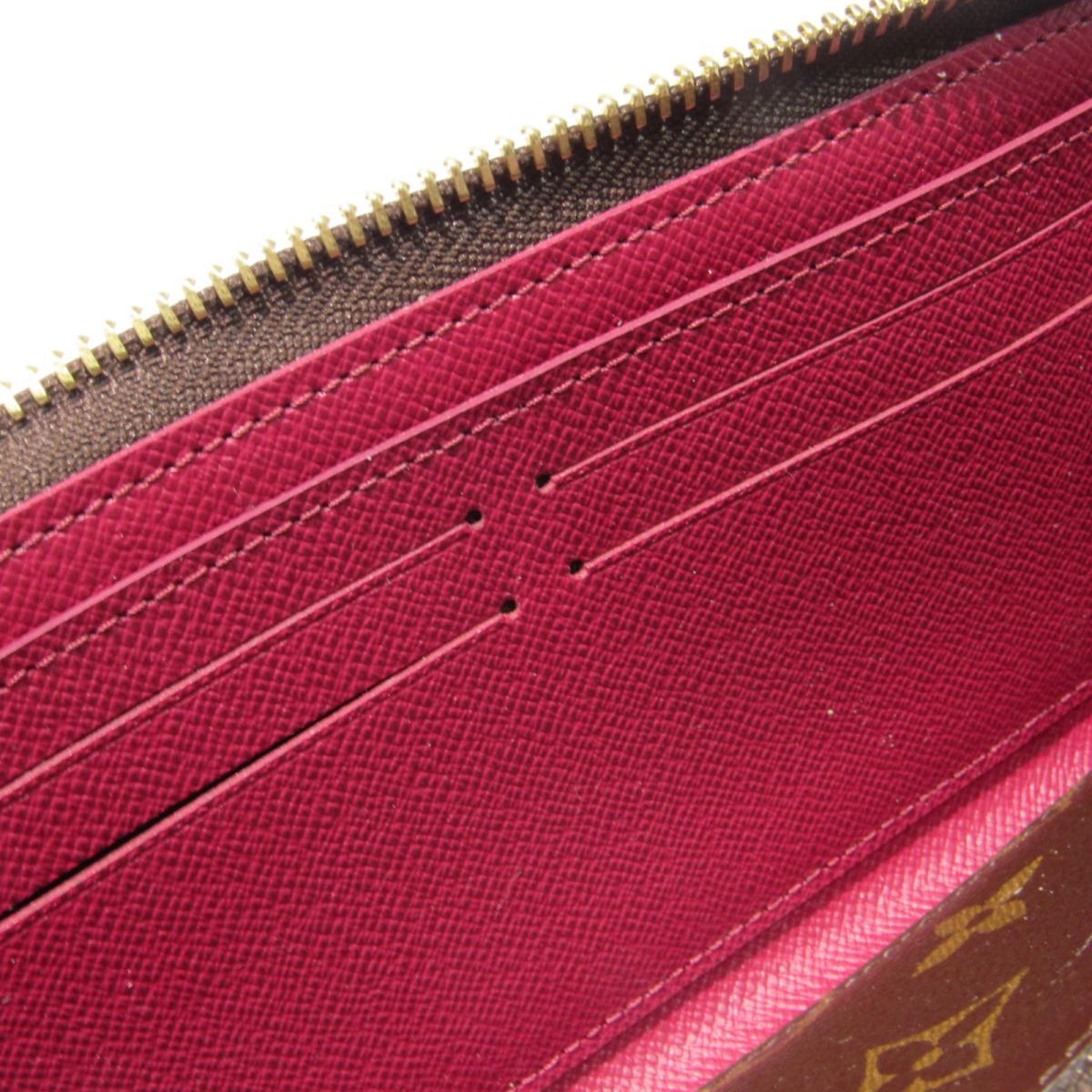 ルイヴィトン ポルトフォイユ・クレマンス ラウンドファスナー長財布 財布 レディース モノグラム モノグラムxフューシャM6fmg7IYyb6v
