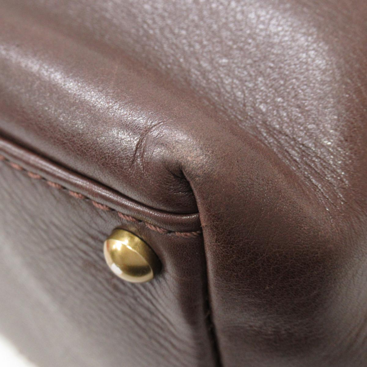 シャネル ハンドバッグ バッグ レディース レザー ブラウンゴールド金具CHANEL BRANDOFF ブランドオフ ブランド ブランドバッグ バック ハンドバック ハンド3q4RLA5j
