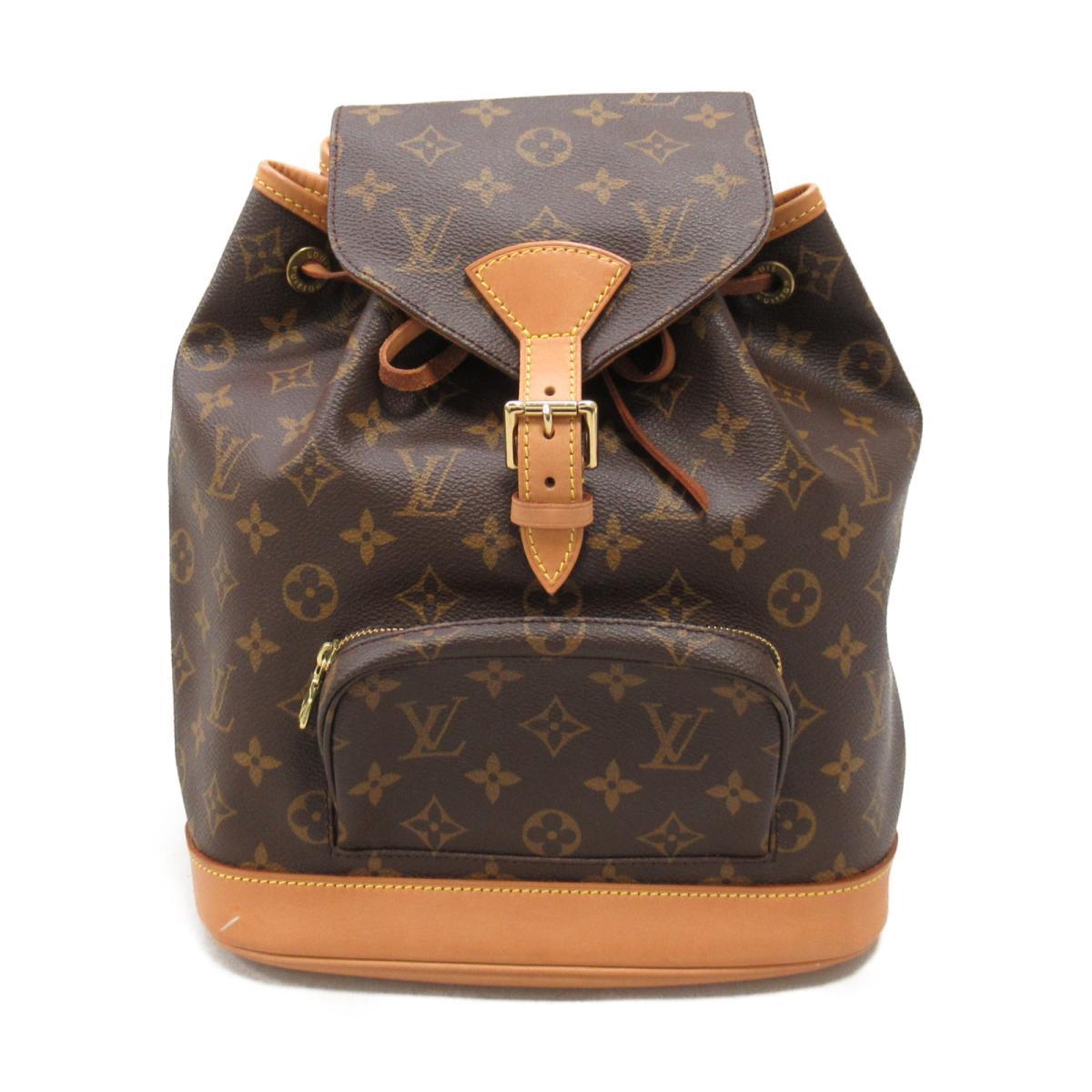Used Louis Vuitton Bags >> Auth Louis Vuitton Montsouris Mm Backpack Rucksack Bag M51136 Monogram Canvas Used Lv Brandoff Ginza Tokyo Japan