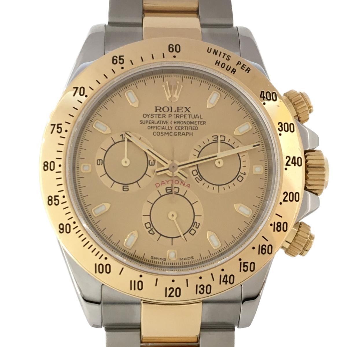 本物保証!  【 ウォッチ】ロレックス デイトナ 時計 腕時計 腕時計 ウォッチ 時計 メンズ K18YG(750)イエローゴールド×ステンレススチール (116523), おおみ食品:771cb4bd --- eamgalib.ru